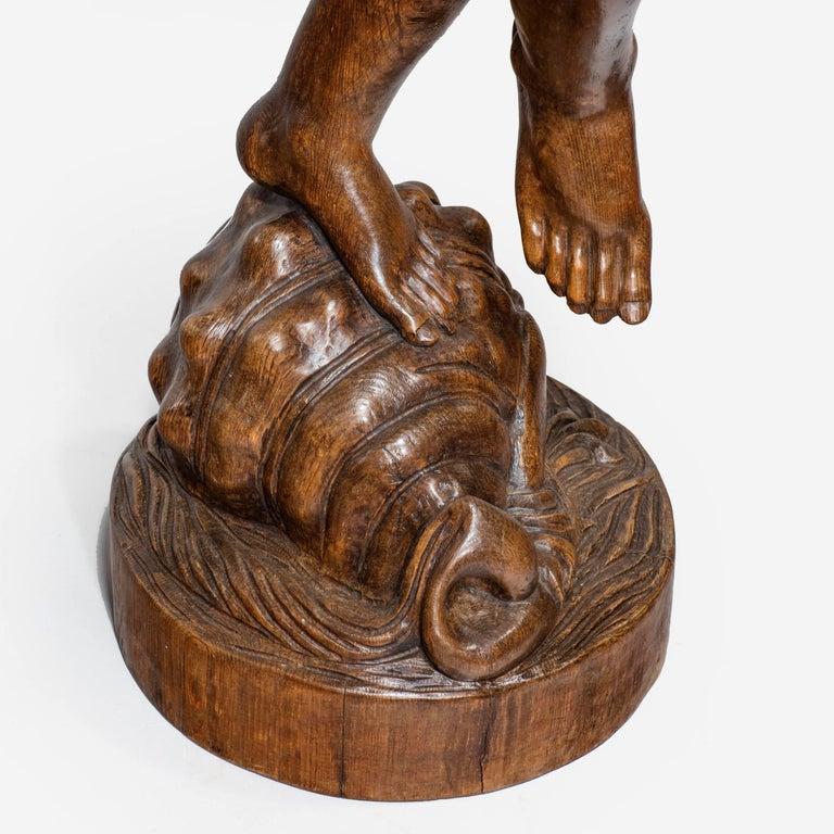 Two Superb Italian Pine Bacchanalian Figures For Sale 1