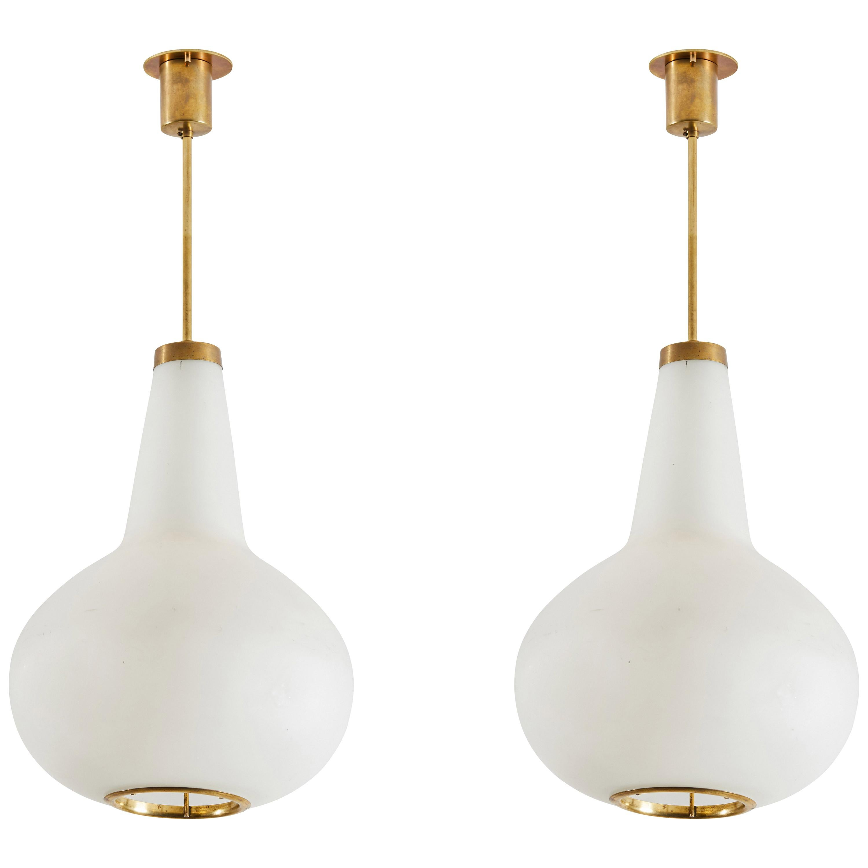 Two Suspension Lights by Max Ingrand for Fontana Arte