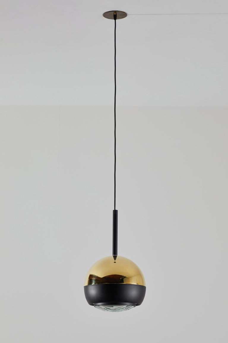 Mid-20th Century Two Suspension Lights by Stilnovo For Sale