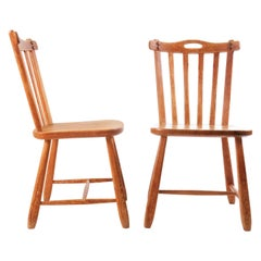 Two Swedish Sport Cabin Chairs in Pine by David Rosén for NK, Sweden