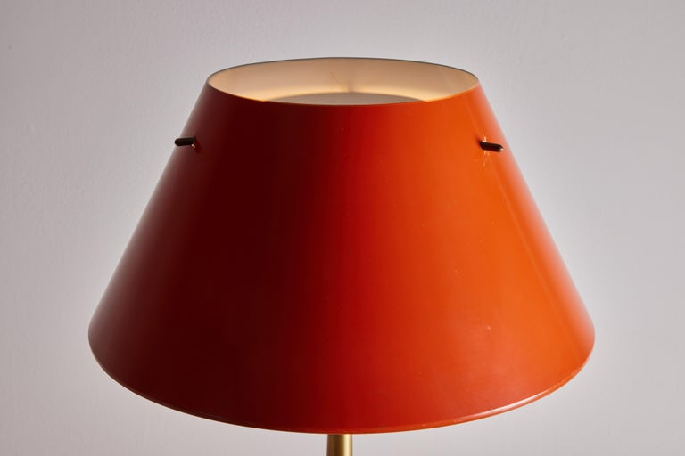 Metal Two Table Lamps by Hans Agne-Jakobsson for Markaryd For Sale