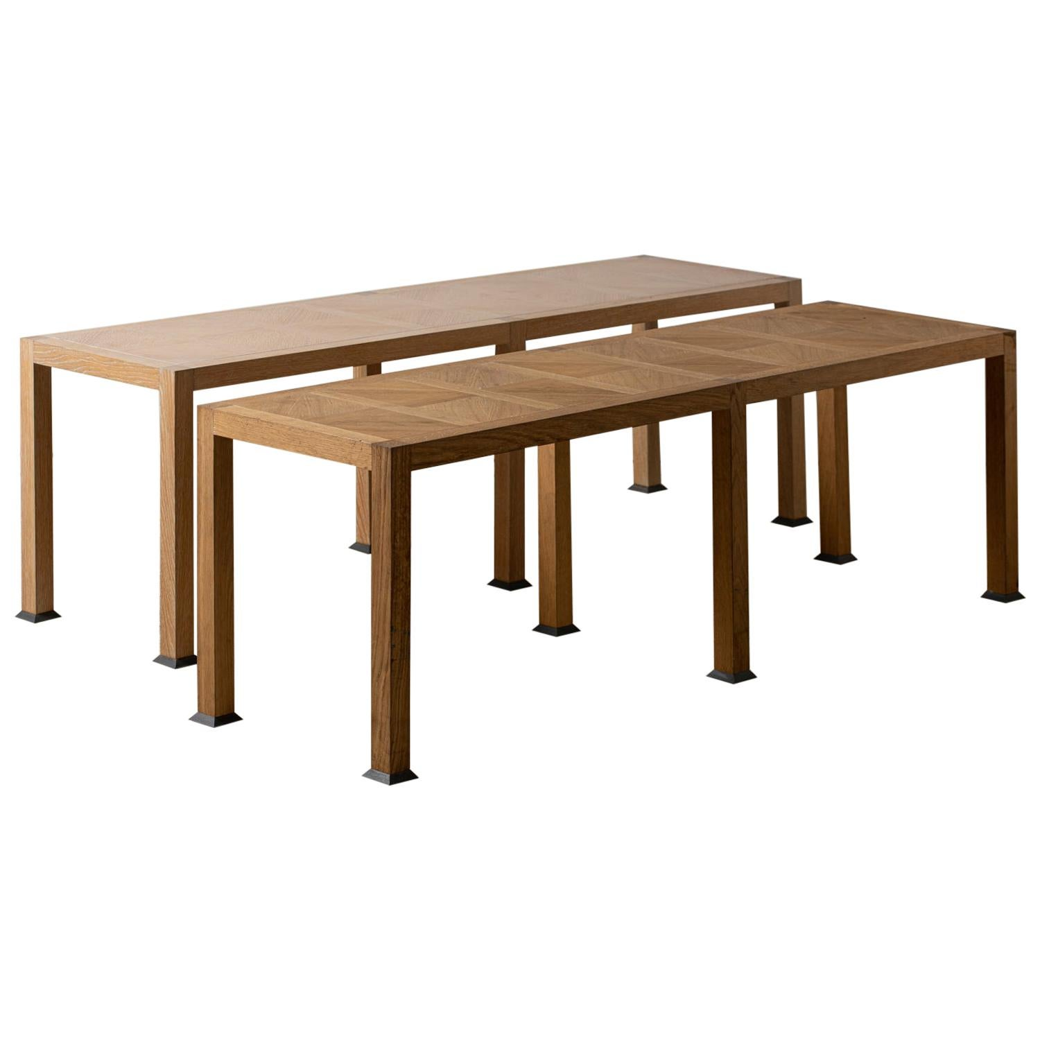 Two Tables or Benches, Ecart International, France, circa 2000