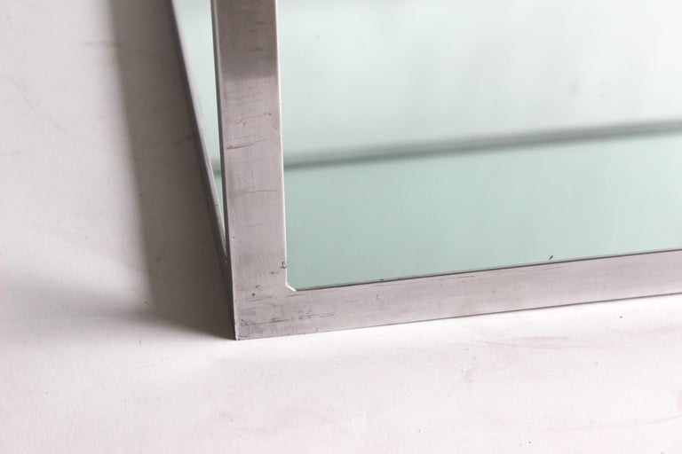 Late 20th Century Two-tier Aluminum Coffee Table For Sale