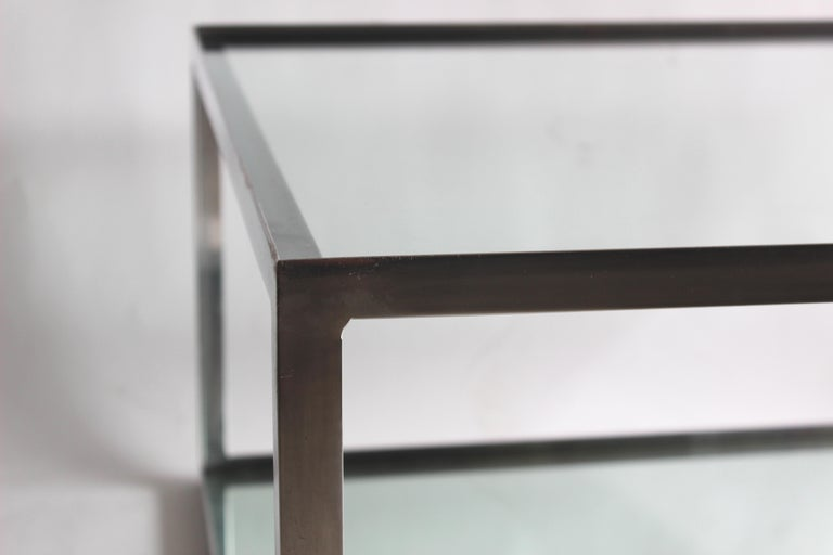 Two-tier Aluminum Coffee Table For Sale 1