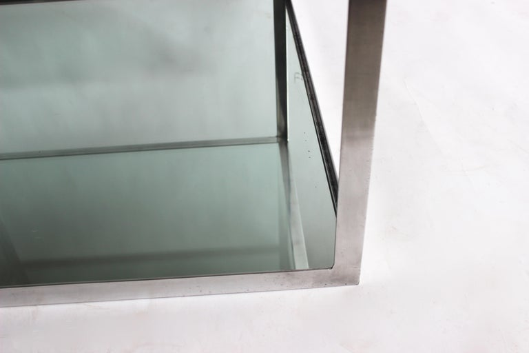 Two-tier Aluminum Coffee Table For Sale 2