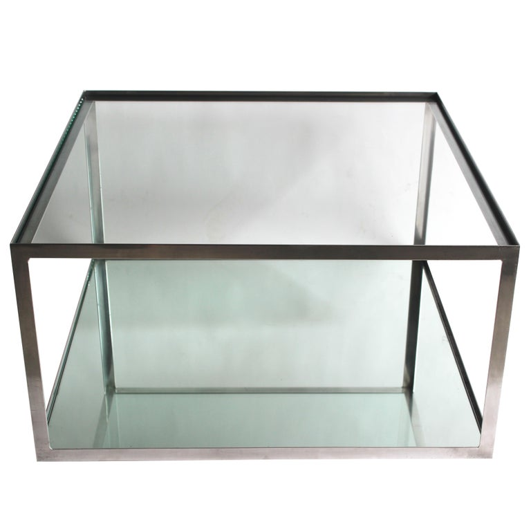 Two-tier Aluminum Coffee Table For Sale