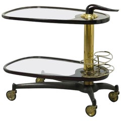 Two-Tier Bar Trolley, Italy, 1950s
