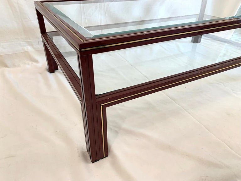 Mid-Century Modern Two-Tier Coffee Table by Pierre Vandel For Sale
