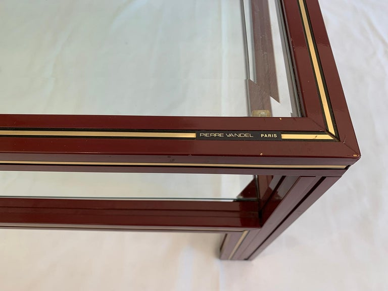 French Two-Tier Coffee Table by Pierre Vandel For Sale