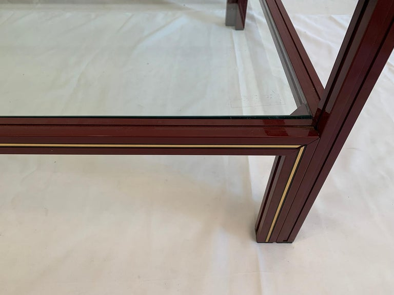 Painted Two-Tier Coffee Table by Pierre Vandel For Sale