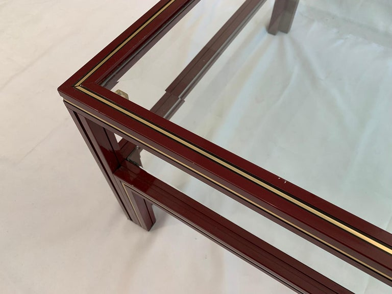 Two-Tier Coffee Table by Pierre Vandel In Good Condition For Sale In Brussels, Brussels