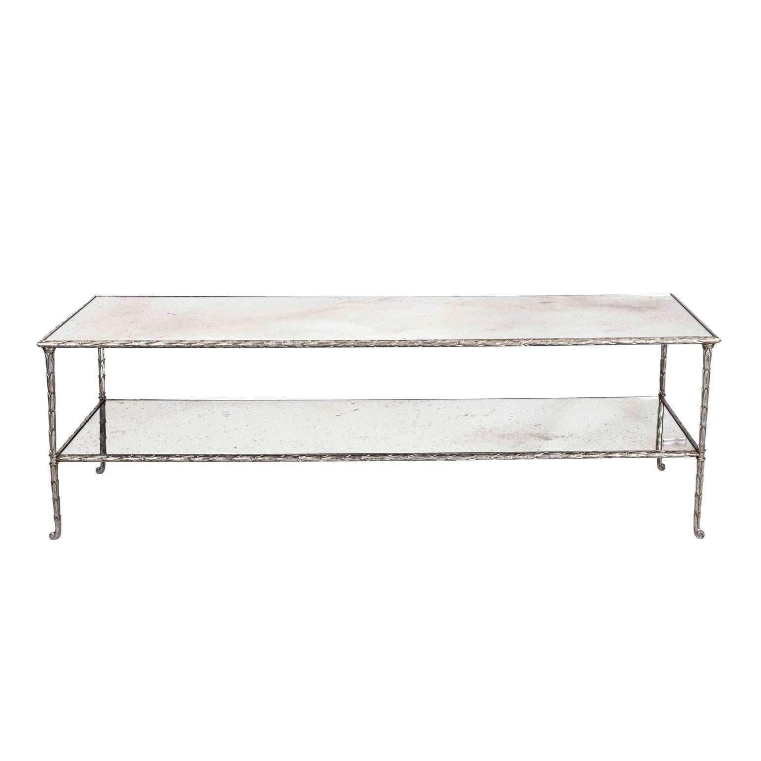 Two Tier Coffee Table With Glass Top For Sale At 1stdibs