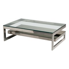 Two-Tier Gilded Metal Coffee Table