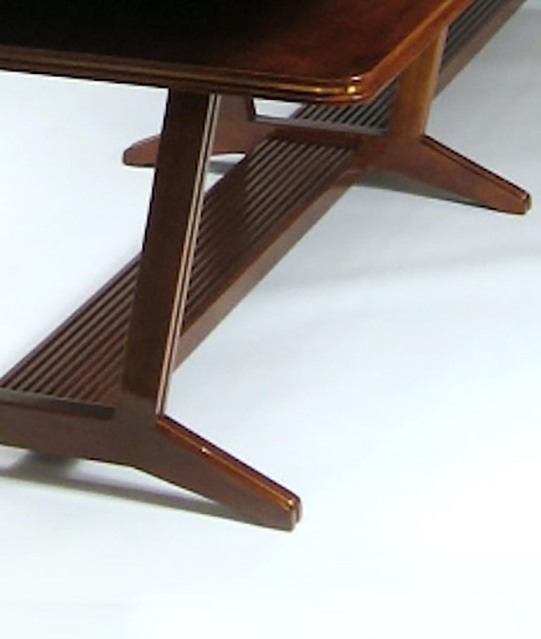 Italian Two-Tier Library or Conference Table, Italy, Art Moderne, circa 1940 For Sale