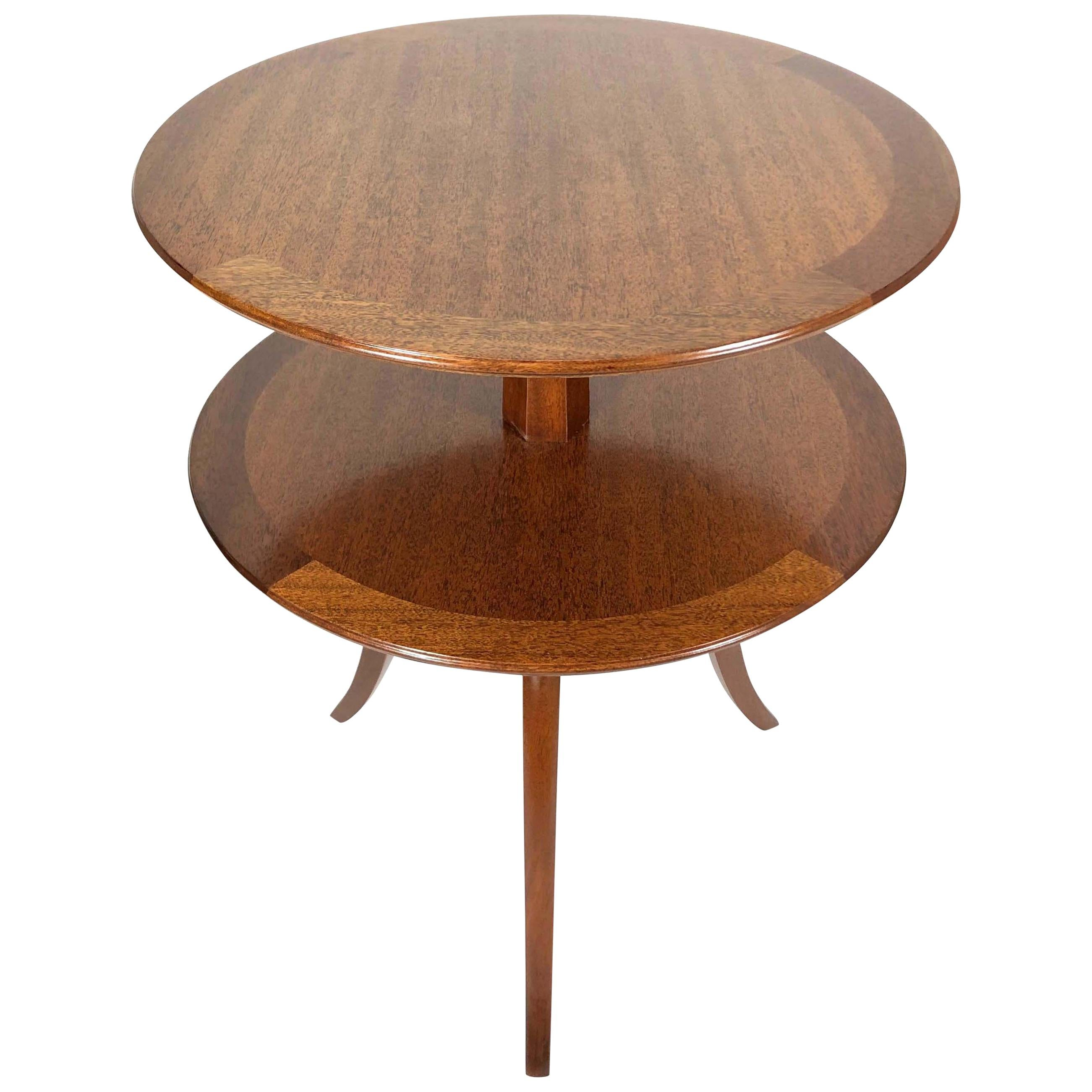 Two-Tier Mahogany Side Table by Edward Wormley for Dunbar