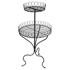 Two Tier Wire Plant Stand in the French Style