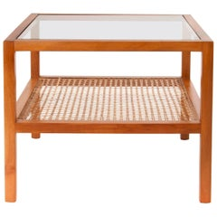 Two-Tiered Werkstätte Hagenauer Coffee Table by Julius Jirasek, Austria, 1930s