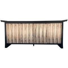 Two-Tone Asian Flair Walnut Sideboard by Bernhardt