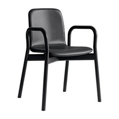 Two Tone Black Leather Chair