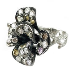 Two-Tone Black Rhodium Diamond Cocktail Ring
