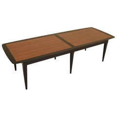 Two-Tone Coffee Table in Teak and Black Lacquer
