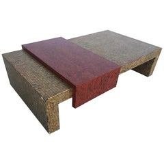 Two-Tone Cubist Style Coffee Table