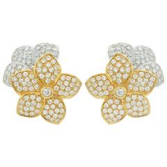 Two-Tone Diamond Earrings