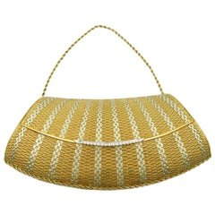 Two-Tone Gold and Diamond Evening Purse