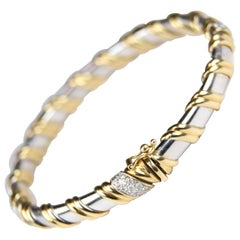 Two-Tone Gold Diamond Bangle