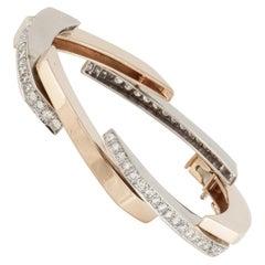 Two-Tone Gold Modernistic Bracelet
