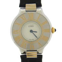 Two-Tone Must de Cartier 21 Women's Wristwatch