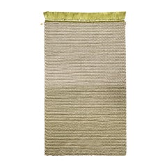 Two-Tone Rug in Greens Thick Luxurious Handmade Crochet Cotton and Polyester