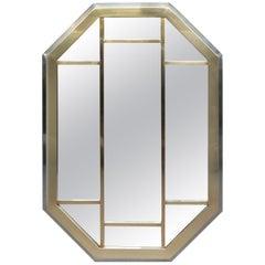 Two-Tone Segmented Modernist Mirror