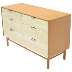 Two Tone Six 6 Drawer Cerused Oak Dresser Credenza by Mengel