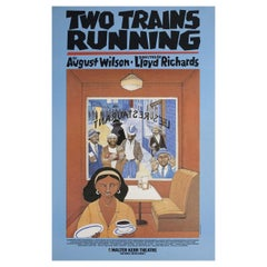 """""""Two Trains Running"""" 1992 U.S. Window Card Theatre Poster"""
