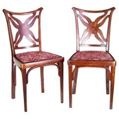 Two Unique Chairs J&J Kohn from 1915, Hotel Ambassador in Prague, Josef Hoffmann