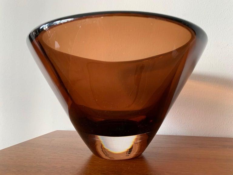 Swedish Two Unusual Vicke Lindstrand for Kosta Boda Glass Vessels For Sale