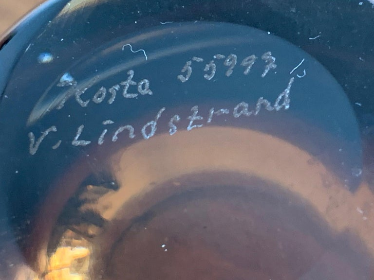Two Unusual Vicke Lindstrand for Kosta Boda Glass Vessels For Sale 1