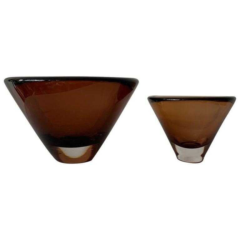 Two Unusual Vicke Lindstrand for Kosta Boda Glass Vessels For Sale