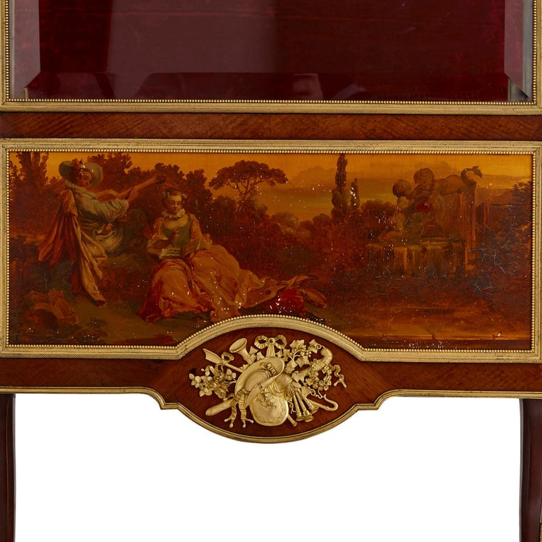 Louis XVI Two Vernis Martin and Gilt Bronze Mounted Display Cabinets by Linke For Sale