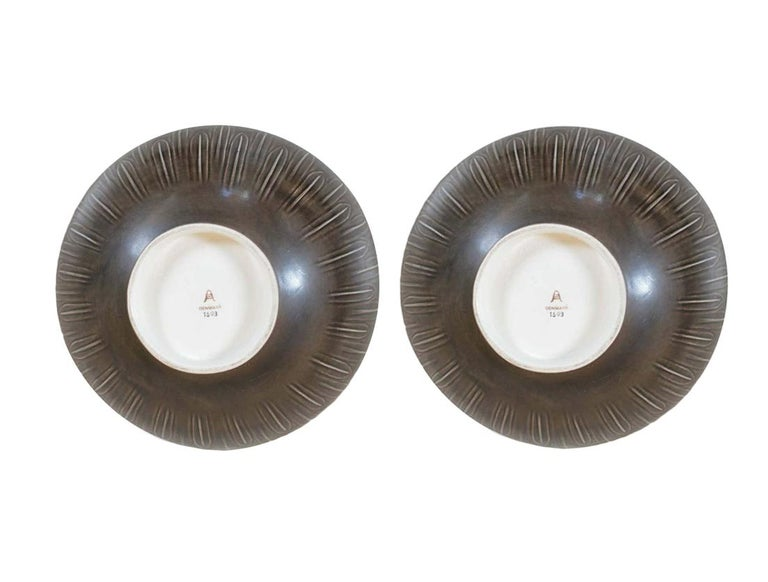 Ceramic Two Very Large 1930s 'Solbjerg' Fruit Bowl by Nils Johan Thorsson for Aluminia For Sale