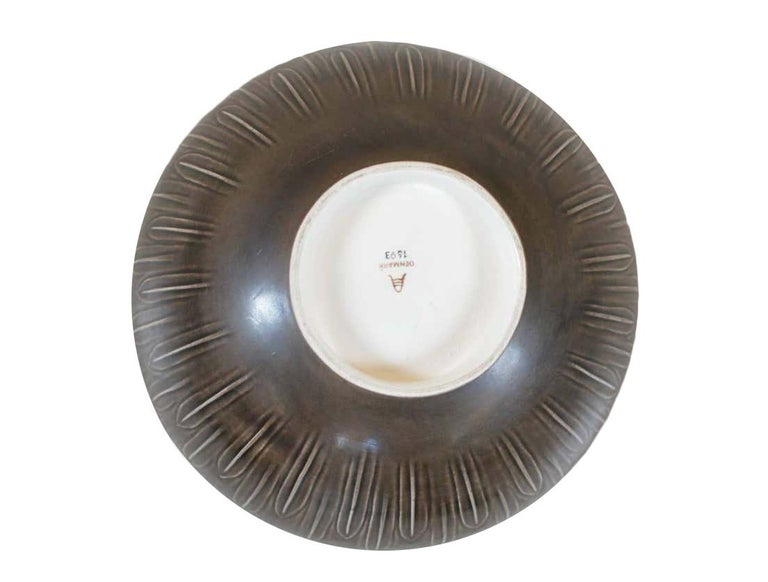 Two Very Large 1930s 'Solbjerg' Fruit Bowl by Nils Johan Thorsson for Aluminia For Sale 1