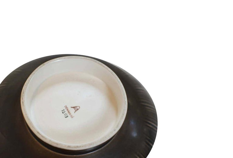 Two Very Large 1930s 'Solbjerg' Fruit Bowl by Nils Johan Thorsson for Aluminia For Sale 2