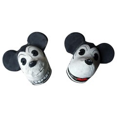 Two Very Rare German Walt Disney Mickey Mouse Masks, circa 1935