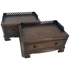 Two Victorian Mahogany Jewelry Boxes, 1875-1900, England
