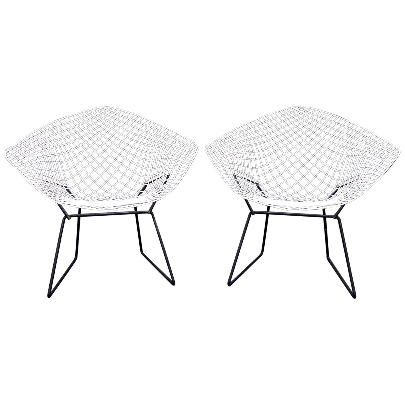 """Two Vintage 1960s """"421"""" Diamond Chairs by Harry Bertoia for Knoll"""