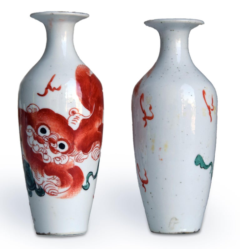 Two Vintage Chinese Porcelain Vases, Early 20th Century In Good Condition For Sale In Roma, IT
