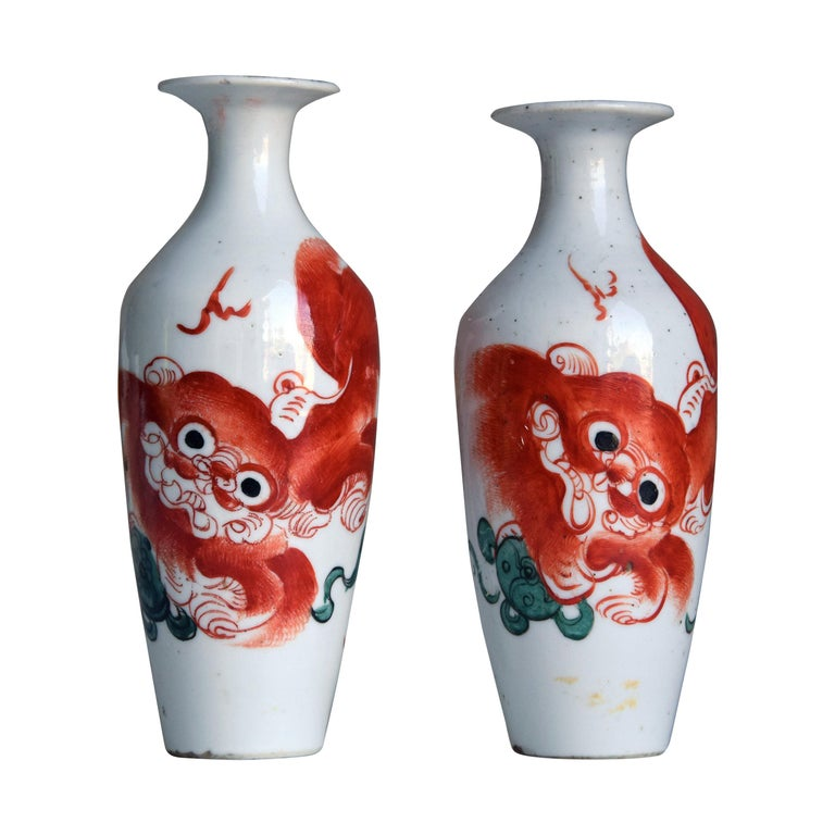 Two Vintage Chinese Porcelain Vases, Early 20th Century For Sale