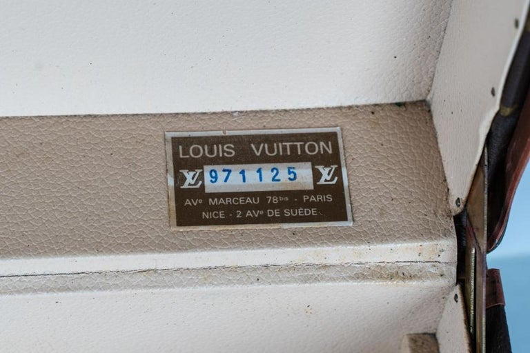 Two vintage Louis Vuitton Trunks / Each one has its own serial number on the inside.