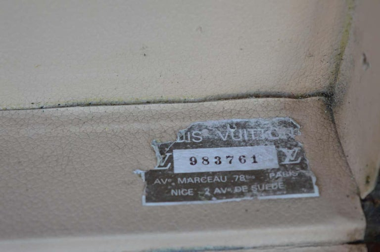 French Two Vintage Louis Vuitton Trunks For Sale